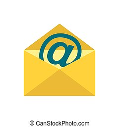E-mail icon, flat style