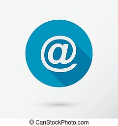 E-mail icon in flat style.