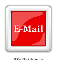 E-mail icon. Internet button on white background.