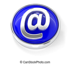 E-mail icon on glossy blue round button