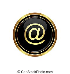 E mail icon on the black