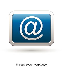 E mail icon on the blue button