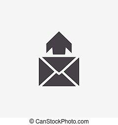 e-mail icon, on white background.