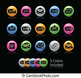 E-mail Icon set - Gelcolor Series