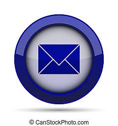 E-mail icon. Internet button on white background.