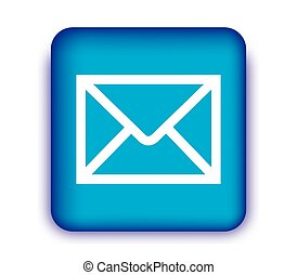 E-Mail Icon with Blue Box