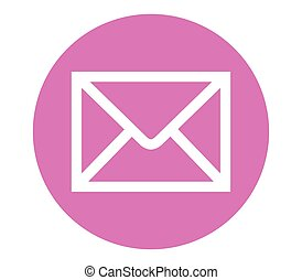 E-Mail Icon with Pink Backgorund