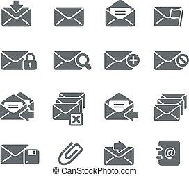 e-mail, iconos