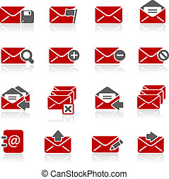 e-mail, iconos, --, redico, serie