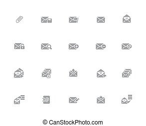 E-mail Icons // 32px White Series