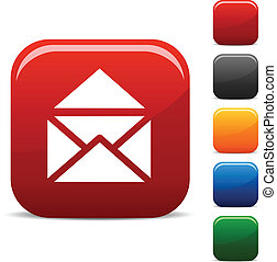 e-mail icons. - e-mail icon set. Vector illustration. .