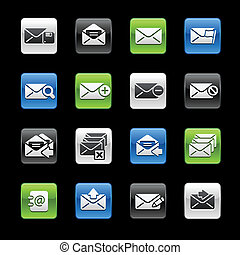 E-mail Icons -- Gelbox Series - Vector icon set for your...