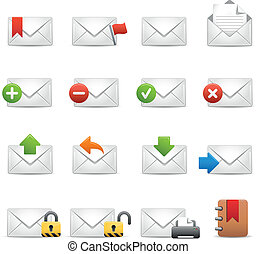 e-mail Icons - Set 2 of 3 // Soft S