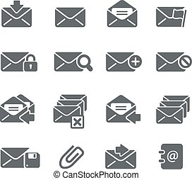E-mail Icons - Vector icons for your digital or print...