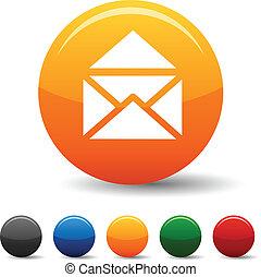 e-mail, icons.