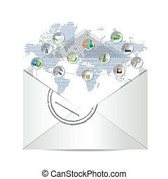 e-mail, ikone