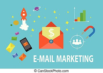 e-mail, illustration, commercialisation