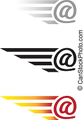 E mail incoming letter vector illustration