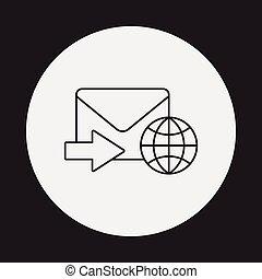 e-mail line icon