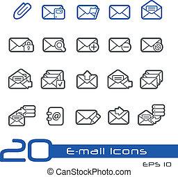//, e-mail, line-series, icônes