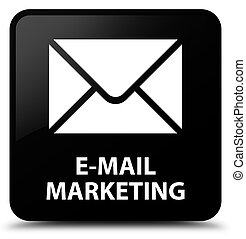 E-mail marketing black square button