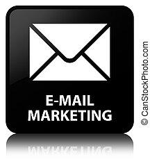E-mail marketing black square button