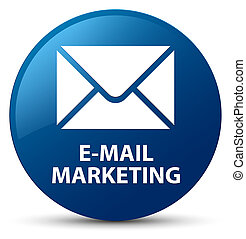 E-mail marketing blue round button
