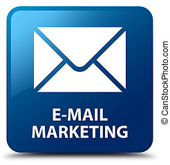 E-mail marketing blue square button