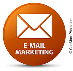 E-mail marketing brown round button