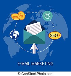E-mail Marketing Concept Art