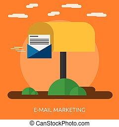 E-mail Marketing Conceptual illustration Design