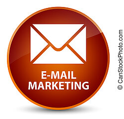 E-mail marketing elegant brown round button