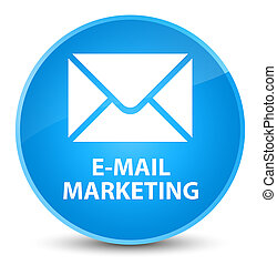 E-mail marketing elegant cyan blue round button