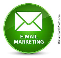 E-mail marketing elegant green round button