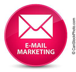 E-mail marketing elegant pink round button