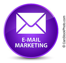 E-mail marketing elegant purple round button