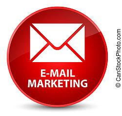 E-mail marketing elegant red round button