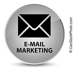 E-mail marketing elegant white round button