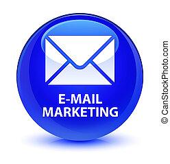 E-mail marketing glassy blue round button