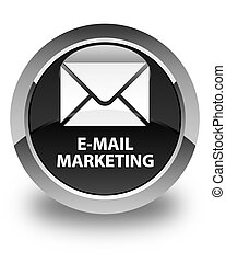 E-mail marketing glossy black round button