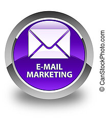E-mail marketing glossy purple round button