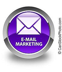 E-mail marketing glossy purple round button
