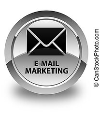 E-mail marketing glossy white round button