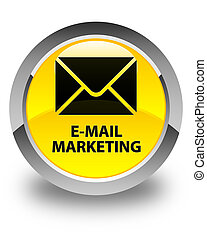 E-mail marketing glossy yellow round button