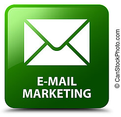 E-mail marketing green square button