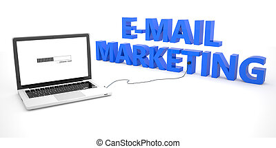 E-Mail Marketing - laptop notebook computer connected to a...