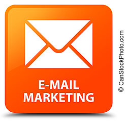 E-mail marketing orange square button