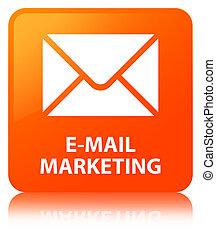 E-mail marketing orange square button