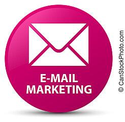E-mail marketing pink round button