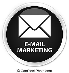 E-mail marketing premium black round button